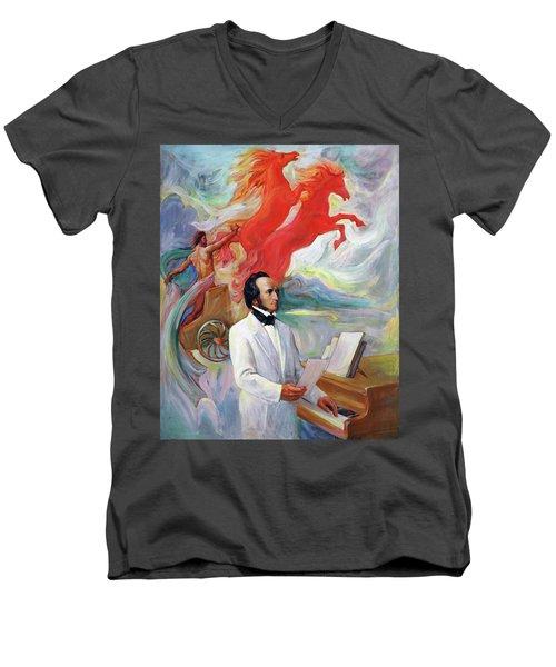 Composer Felix Mendelssohn Men's V-Neck T-Shirt