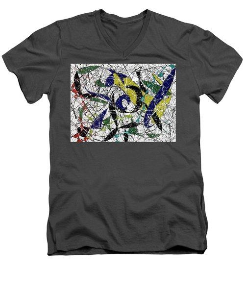 Composition #19 Men's V-Neck T-Shirt