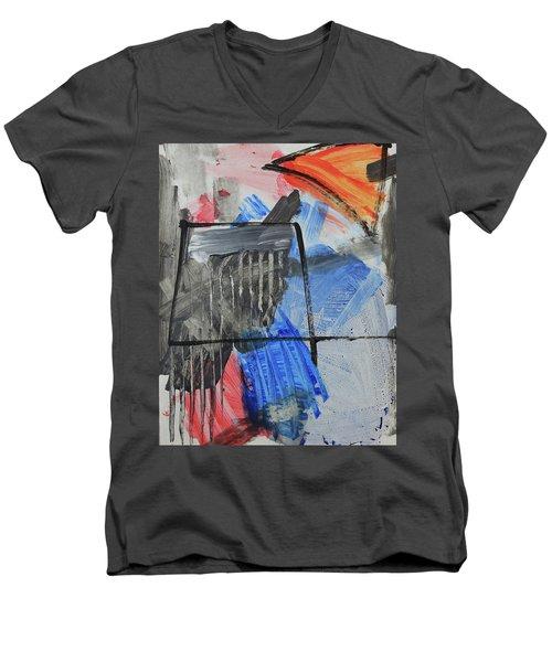 Composition 20188 Diptych Left Panel Men's V-Neck T-Shirt
