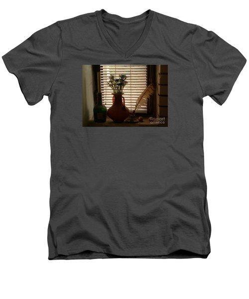 Composition Men's V-Neck T-Shirt by AmaS Art