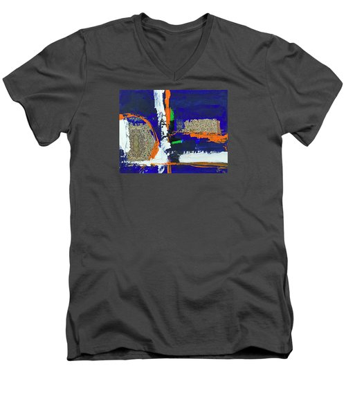 Composition Orientale No 1 Men's V-Neck T-Shirt by Walter Fahmy
