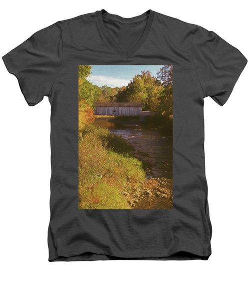 Comstock Covered Bridge Men's V-Neck T-Shirt