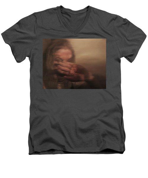Concealed Men's V-Neck T-Shirt