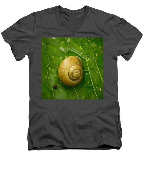 Men's V-Neck T-Shirt featuring the photograph Conch by Jouko Lehto