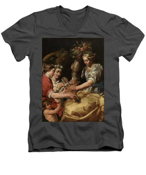 Concord, Charity And Sincerity Conquering Discord Men's V-Neck T-Shirt