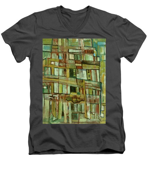 Men's V-Neck T-Shirt featuring the painting Condo by Paul McKey