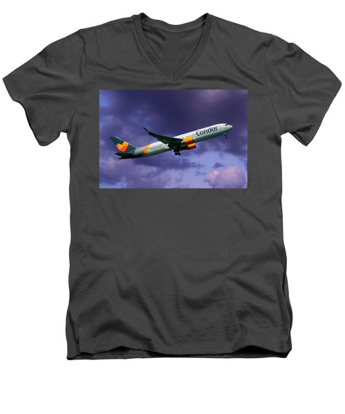 Condor Boeing 767-3q8 Men's V-Neck T-Shirt