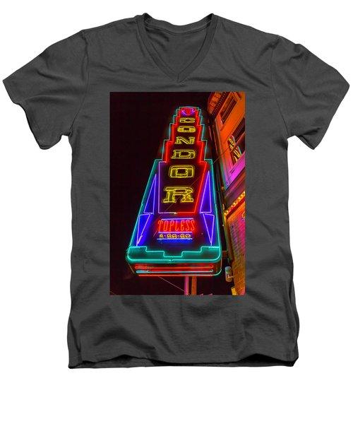 Condor Neon Men's V-Neck T-Shirt