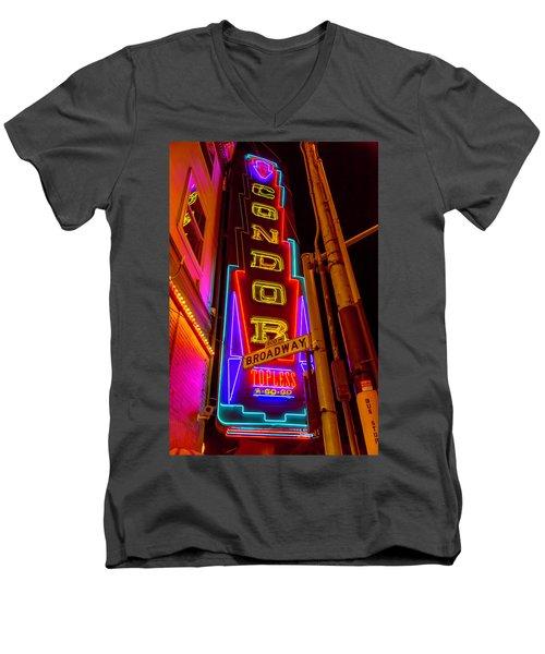 Condor Neon On Broadway Men's V-Neck T-Shirt