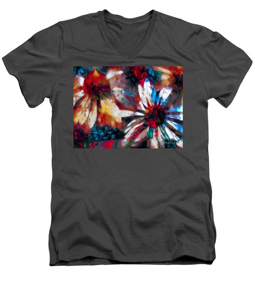 Cone Flower Fantasia I Men's V-Neck T-Shirt