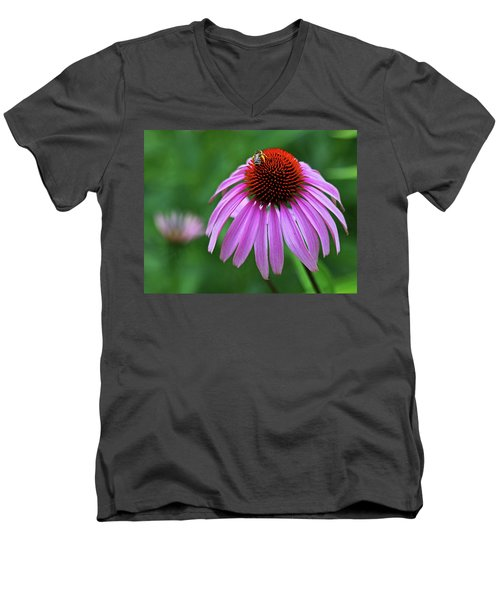 Men's V-Neck T-Shirt featuring the photograph Coneflower by Judy Vincent