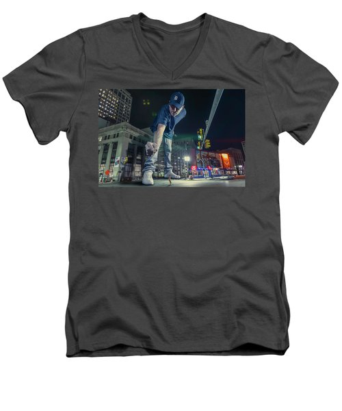 Men's V-Neck T-Shirt featuring the photograph Coney Anyone? by Nicholas Grunas