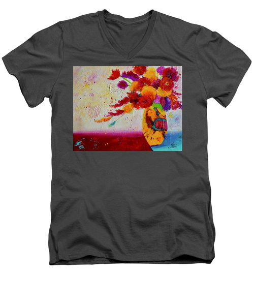 Confetti Men's V-Neck T-Shirt by Nancy Jolley