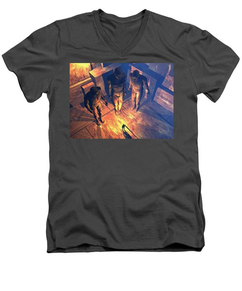 Confronted By Malignant Forces Men's V-Neck T-Shirt