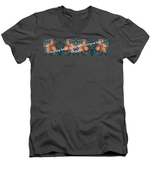 Confucius Beauty  Men's V-Neck T-Shirt