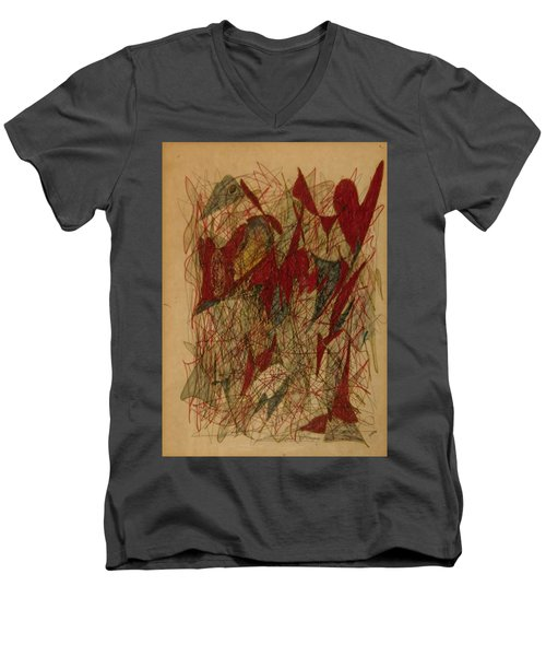 Conglomerate Synthesis  Men's V-Neck T-Shirt