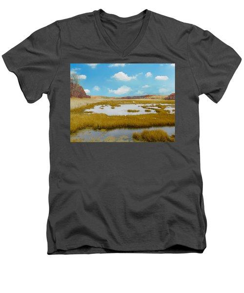 Connecticut Salt Water Marsh Men's V-Neck T-Shirt