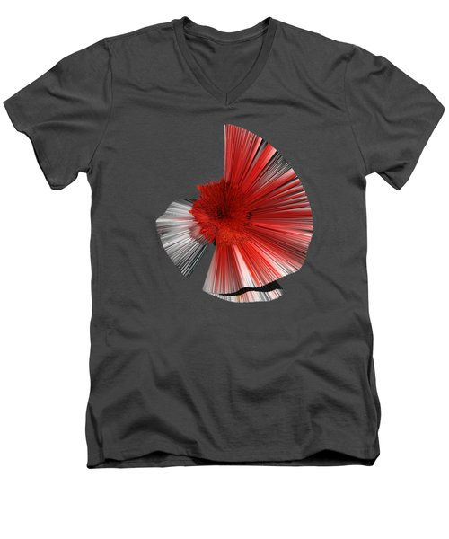 Consciousness Of The Inanimate Painting As A Spherical Depth Map. A Men's V-Neck T-Shirt by Paul Davenport