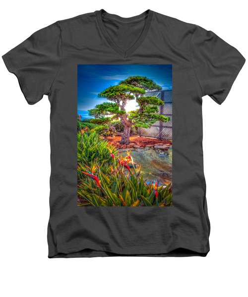 Men's V-Neck T-Shirt featuring the photograph Consciousness Waves And Then Matters by TC Morgan