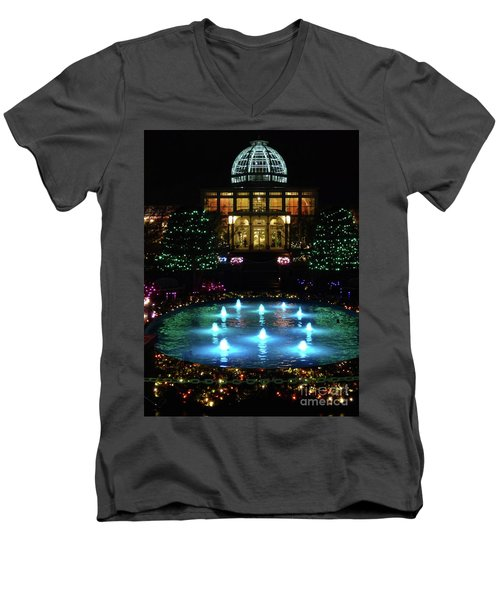 Conservatory At Night Men's V-Neck T-Shirt