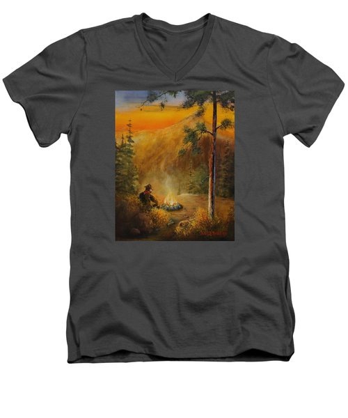 Contemplating The Journey Men's V-Neck T-Shirt