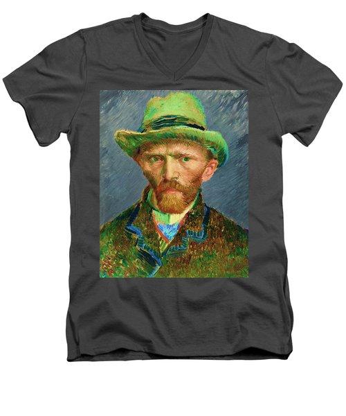 Contemporary 2 Van Gogh Men's V-Neck T-Shirt by David Bridburg