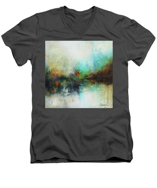 Contemporary Abstract Art Painting Men's V-Neck T-Shirt by Patricia Lintner