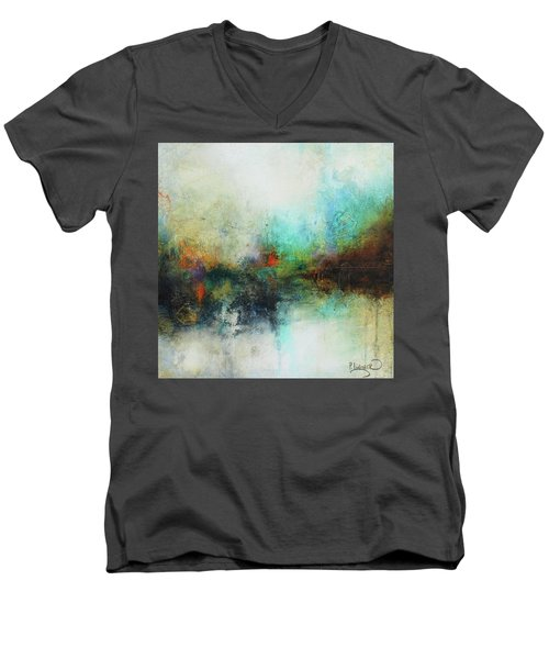 Contemporary Abstract Art Painting Men's V-Neck T-Shirt