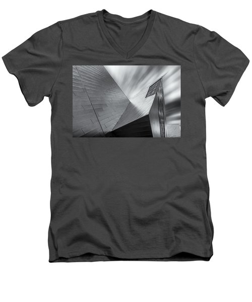 Men's V-Neck T-Shirt featuring the photograph Contemporary Architecture Of The Shops At Crystals, Aria, Las Ve by Adam Romanowicz