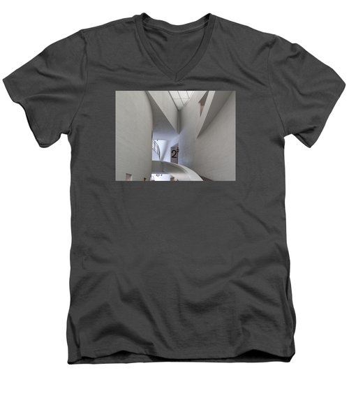 Contemporary Art Museum Interior Men's V-Neck T-Shirt by Margaret Brooks
