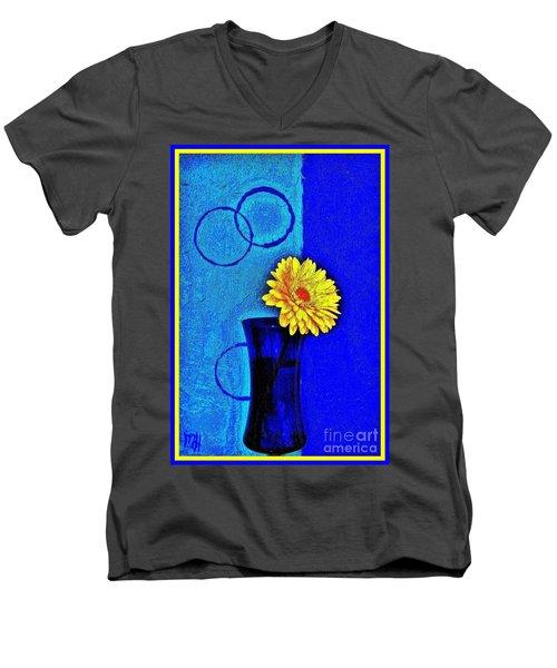 Contemporary Gerber Men's V-Neck T-Shirt by Marsha Heiken
