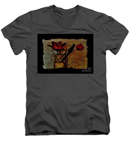 Contemporary Still Life Men's V-Neck T-Shirt by Marsha Heiken