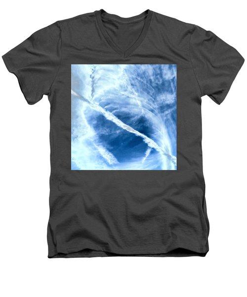 Contrail Concentricities Men's V-Neck T-Shirt