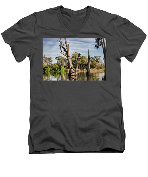 Men's V-Neck T-Shirt featuring the photograph Contrasted by Douglas Barnard