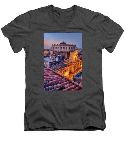 Convento Di San Giuliano Men's V-Neck T-Shirt by Robert Charity