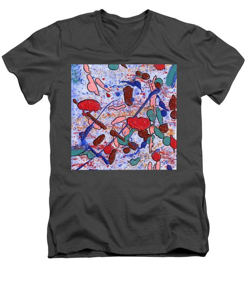 Conversation With Grace Men's V-Neck T-Shirt by Phil Strang