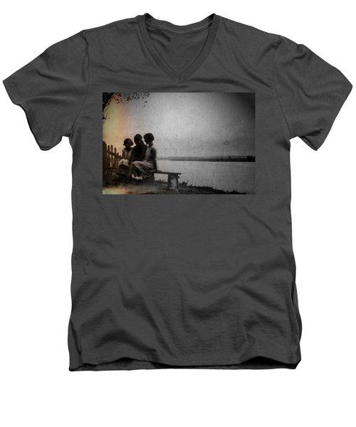 Converse Men's V-Neck T-Shirt by Mark Ross