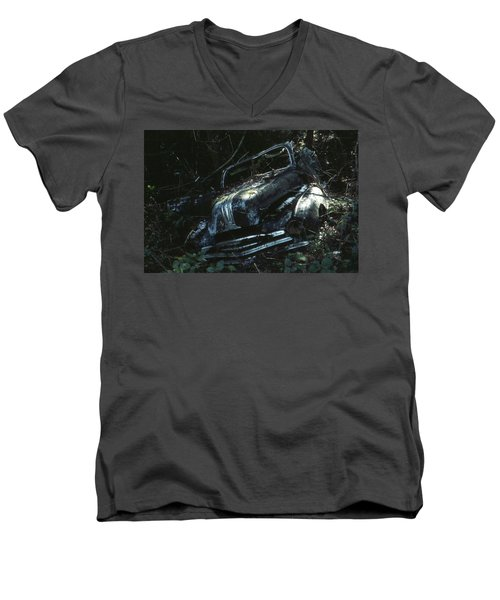 Men's V-Neck T-Shirt featuring the photograph Convertible by Laurie Stewart