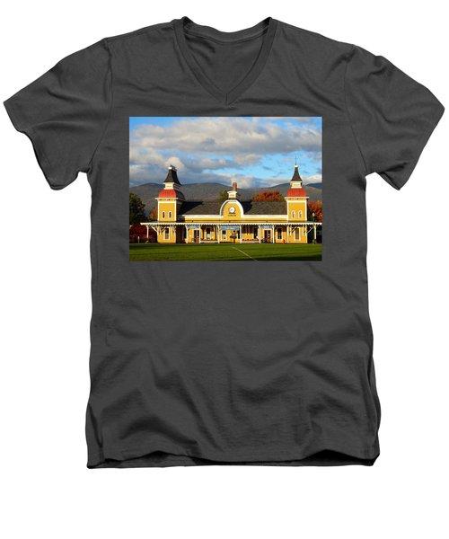 Conway Scenic Railroad 1 Men's V-Neck T-Shirt