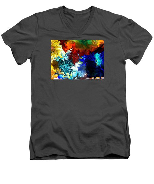 Cool And Warm Men's V-Neck T-Shirt