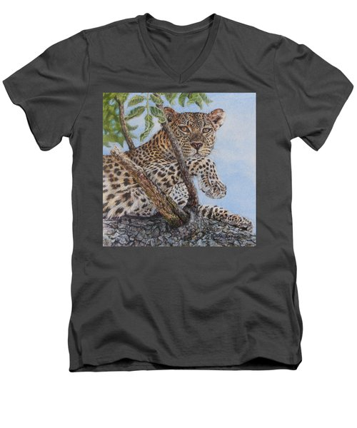 Cool Cat Men's V-Neck T-Shirt