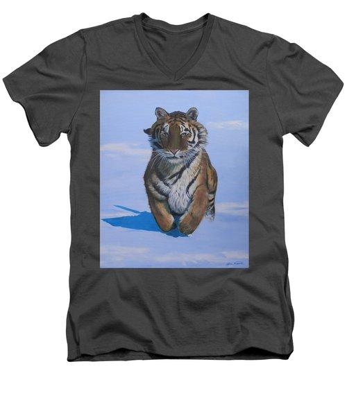 Cool Cat Men's V-Neck T-Shirt
