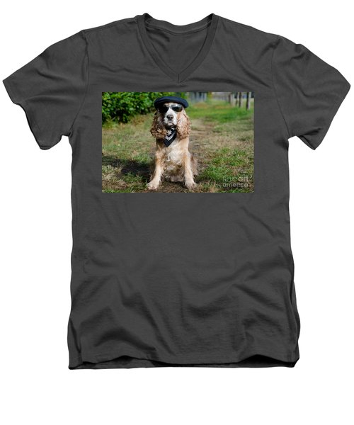Cool Dog Men's V-Neck T-Shirt
