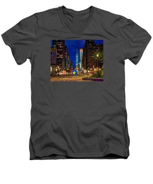 Cool Globes Men's V-Neck T-Shirt