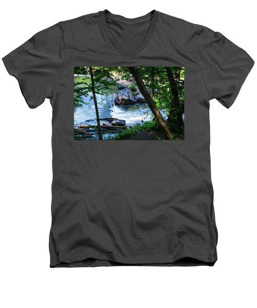 Cool Mountain Stream Men's V-Neck T-Shirt