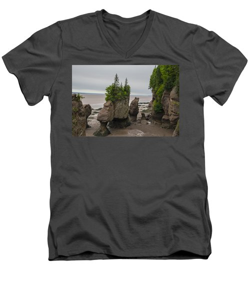 Cool Rocks Men's V-Neck T-Shirt