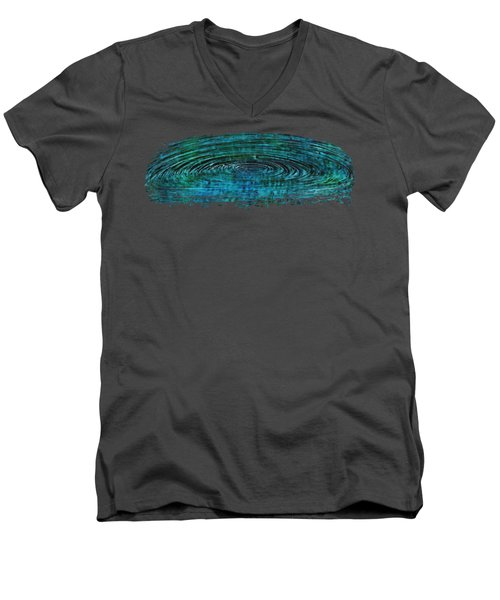 Men's V-Neck T-Shirt featuring the mixed media Cool Spin by Sami Tiainen