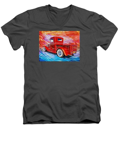 Coolville  Men's V-Neck T-Shirt