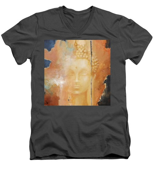 Copper Buddha Men's V-Neck T-Shirt