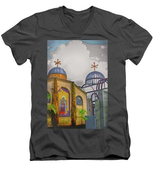 Coptic Church Rebirth Men's V-Neck T-Shirt